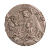 obj relief sandro botticelli madonna