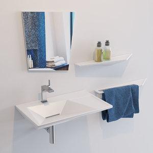 3d olympia cryctal lavabo washbasin