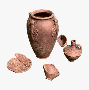 x ancient pottery