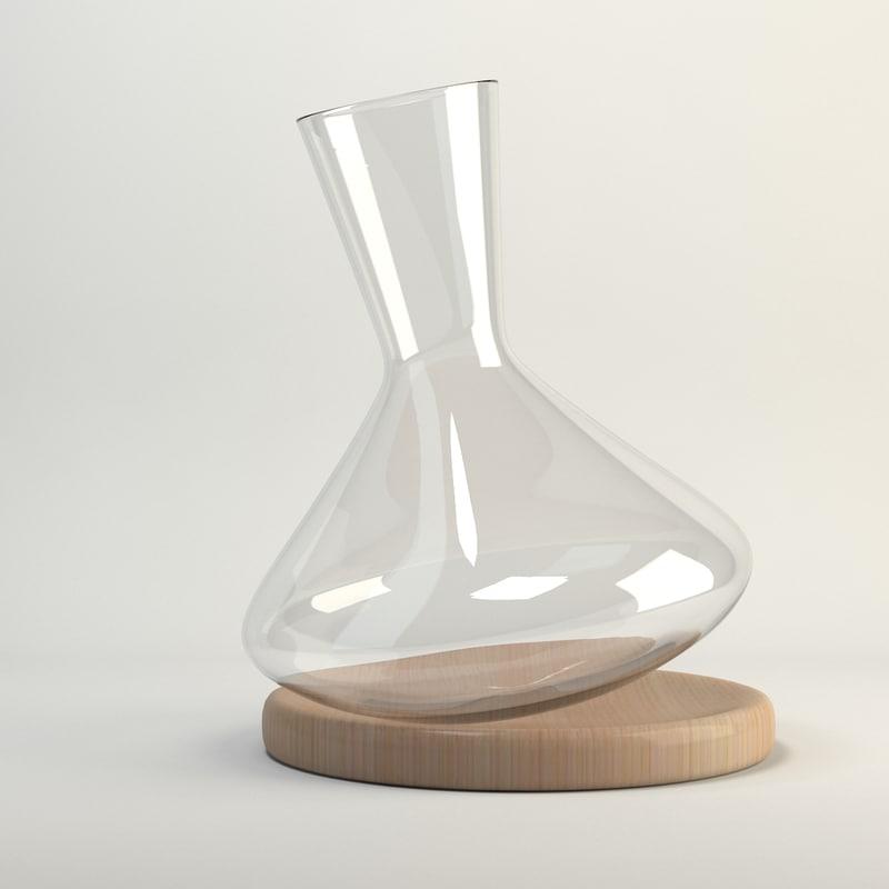 3d nude balance wine decanter model