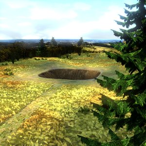 3d model natural environment trees shrubs