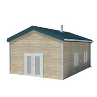 3d house concrete model