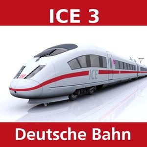 3d model of train ice 3
