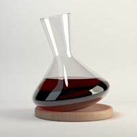 3ds nude balance wine decanter