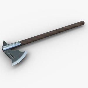 3d model war axe