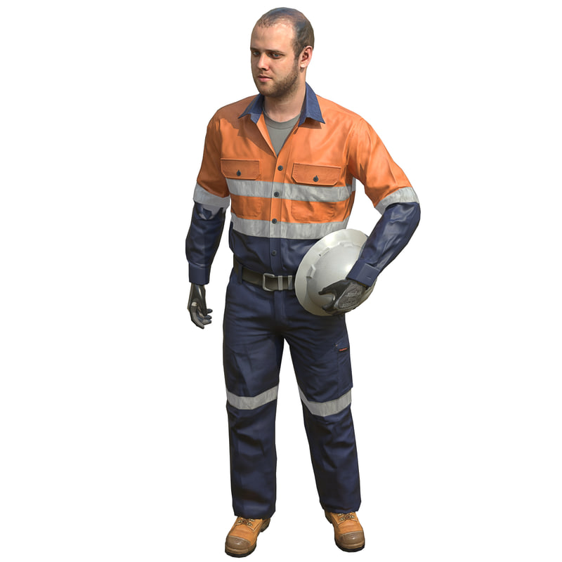 3d safety worker