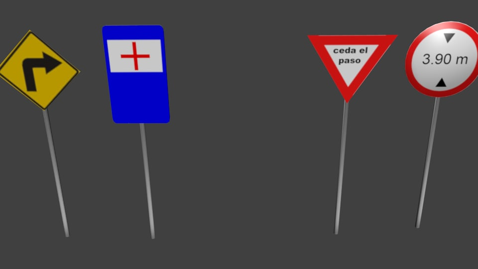 traffic signals 3d model
