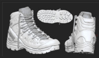 hiking boot 3d fbx