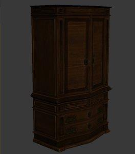 armoir dresser hutch 3d model