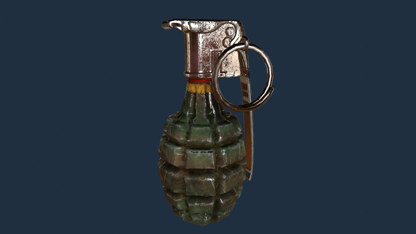 mk2 grenade 3d fbx