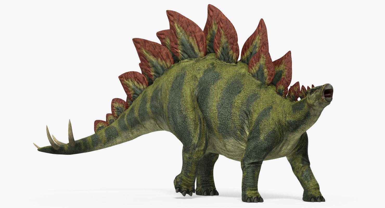 stegosaurus walking pose 3ds