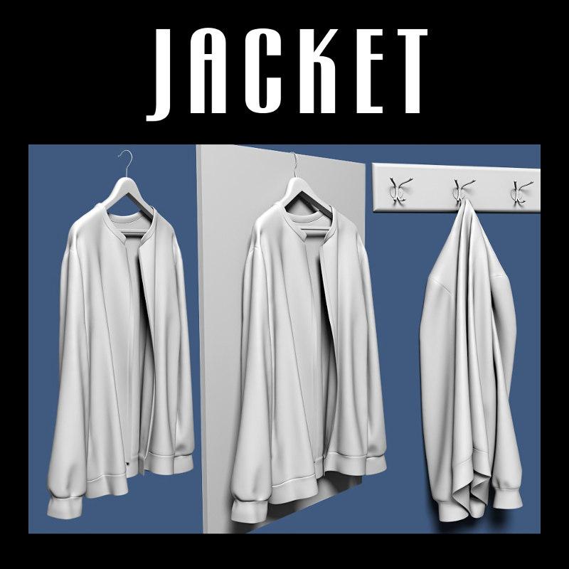 jacket interiors 3d obj