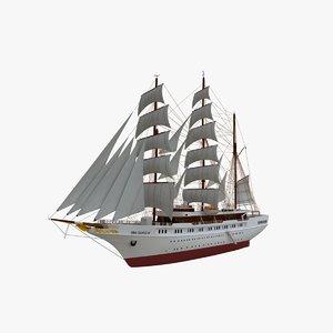 3d model of sea cloud cruise ship