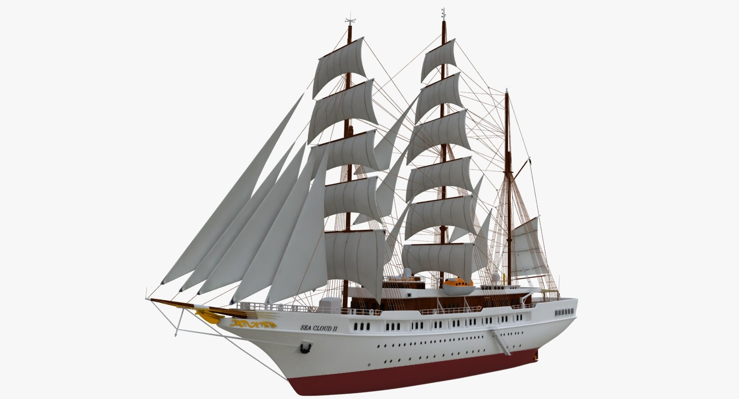 3d model of sea cloud cruise ship