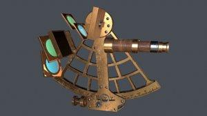 navigational sextant 3d fbx