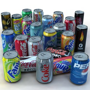 3ds 24 soda cans pack