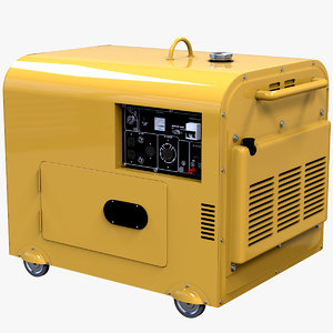 diesel powered portable generator 3d model