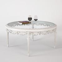 3d model classic table savio