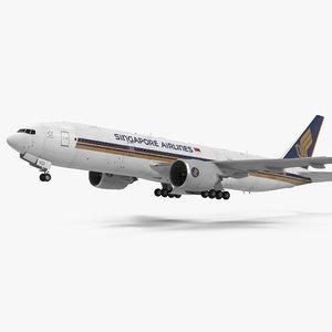 3d model boeing 777 200er singapore