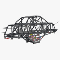 3d monster truck bigfoot frame