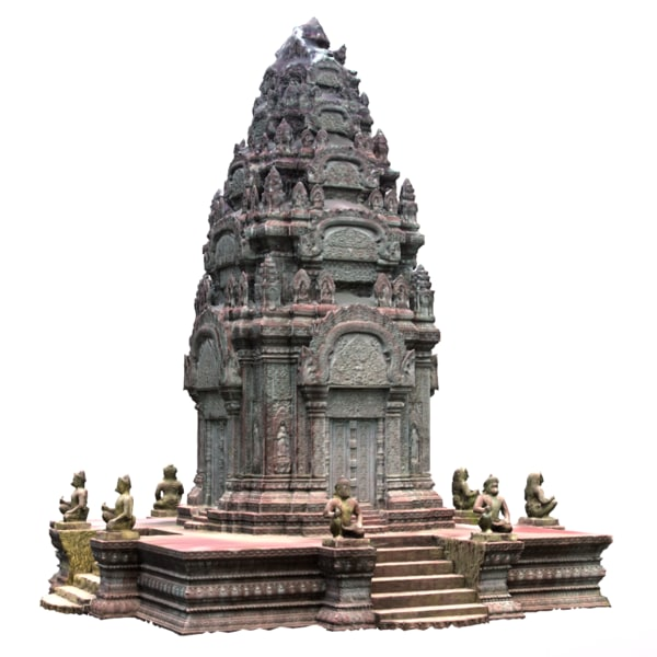 cambodia temple 3d max