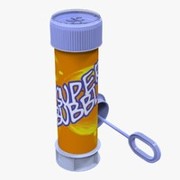 3d obj bottle bubbles toy