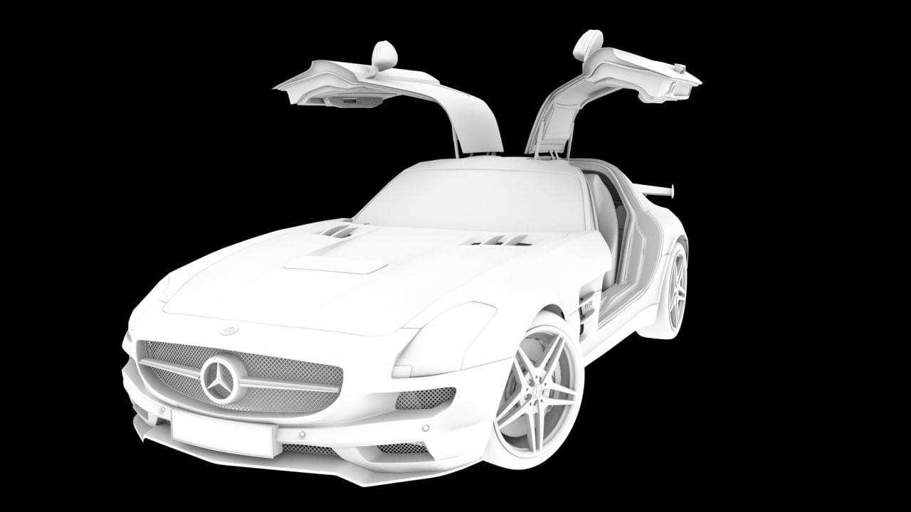 benz sls amg 3d model