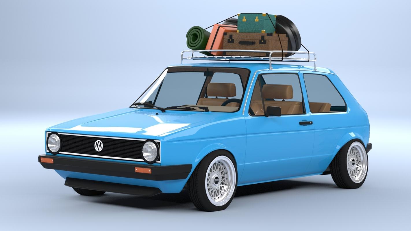 3d volkswagen mk1 model