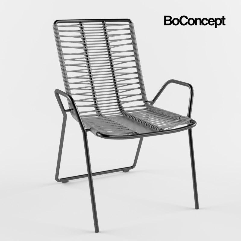 boconcept elba chair 3d max