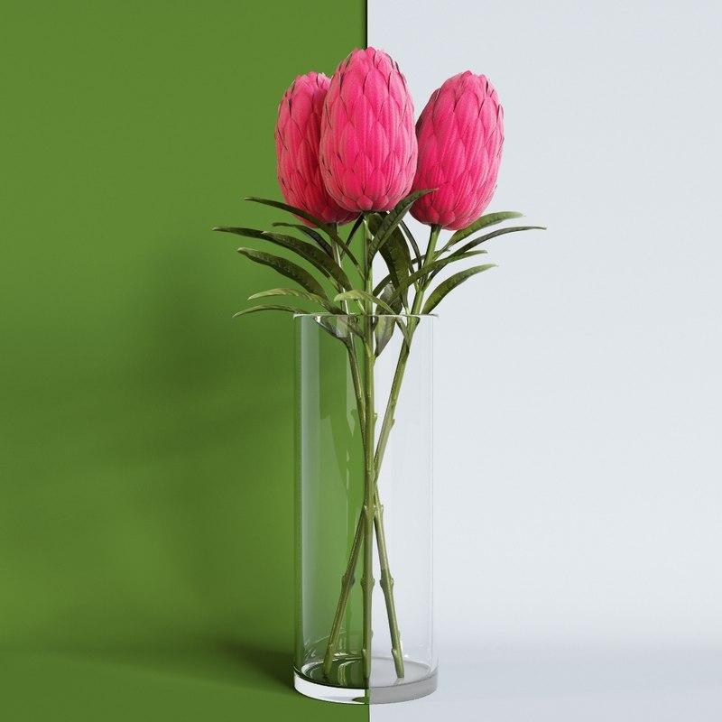 artificial flower smikka 3d model