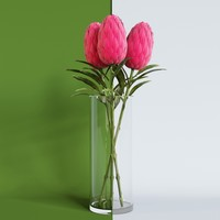 artificial flower smikka 3d model