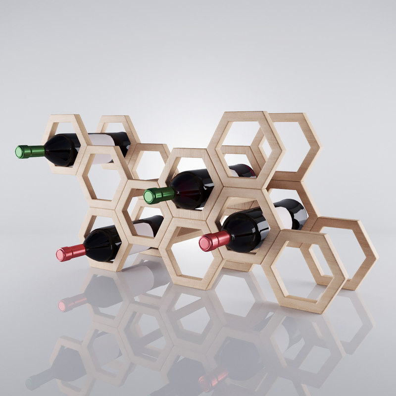 max stylish rack wine bottles