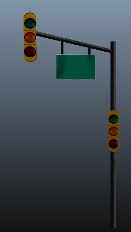 traffic signal 3d obj