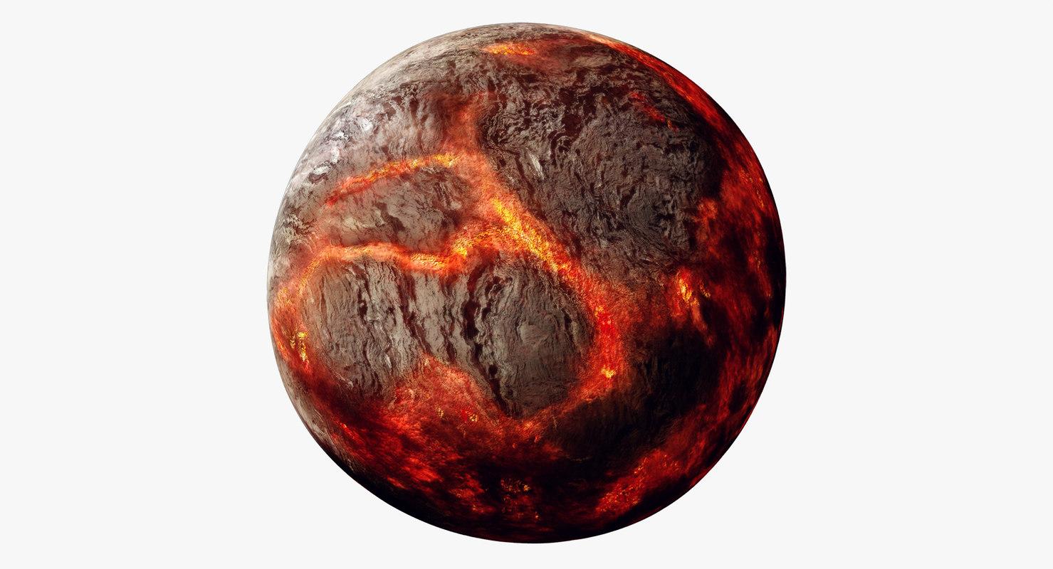 3d model planet 55 cancri e