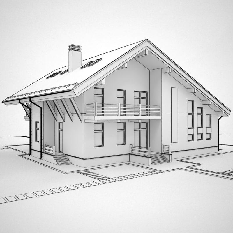 3d house hous model