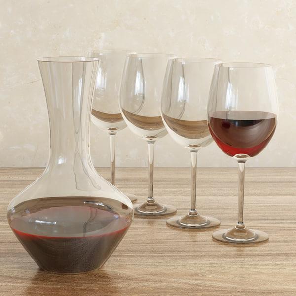decanter wine 3d max
