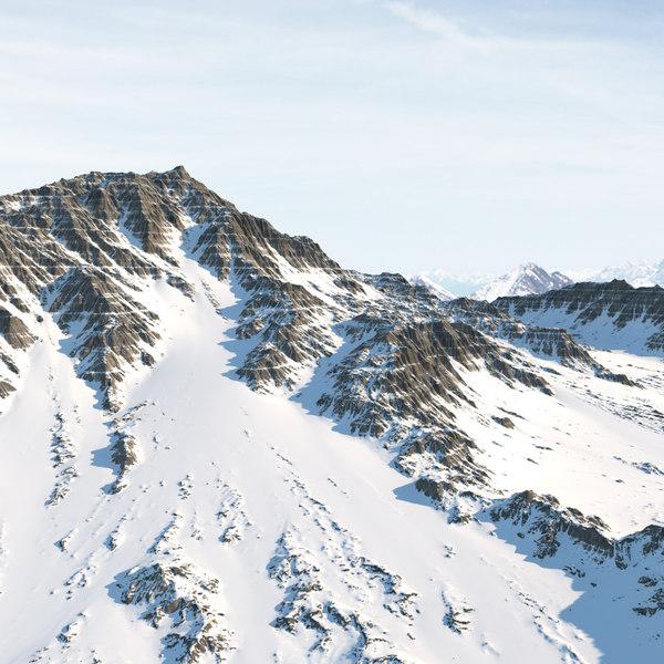 mountain realistic 3d model