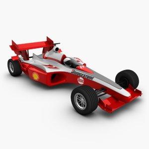 3d formula 1 model