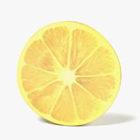 3d lemon slice