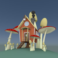 scenery tale house 3d model