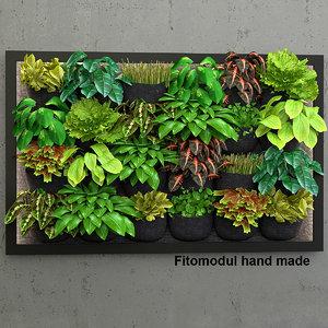 3d vertical gardening model