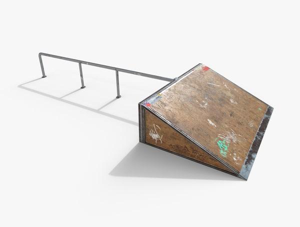 3d skate ramp pbr
