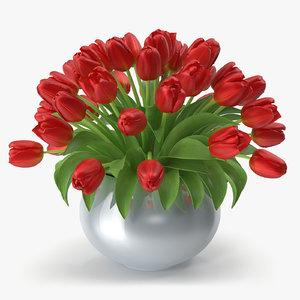 3d tulip vase
