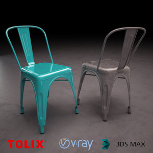 3d french chair tolix