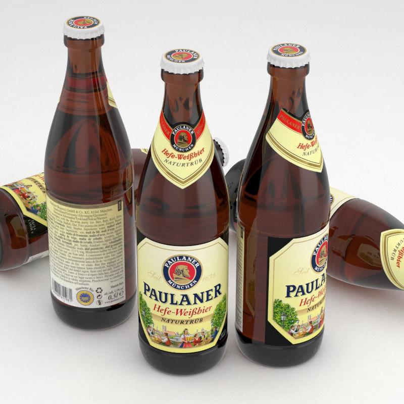beer bier weissbier 3d model