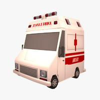 3d cartoon ambulance model
