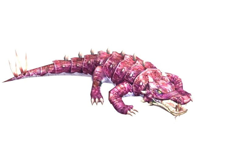 monster crocodile rigged max