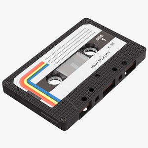 3d cassette tape vintage -