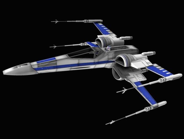 x-wing star wars 3d x