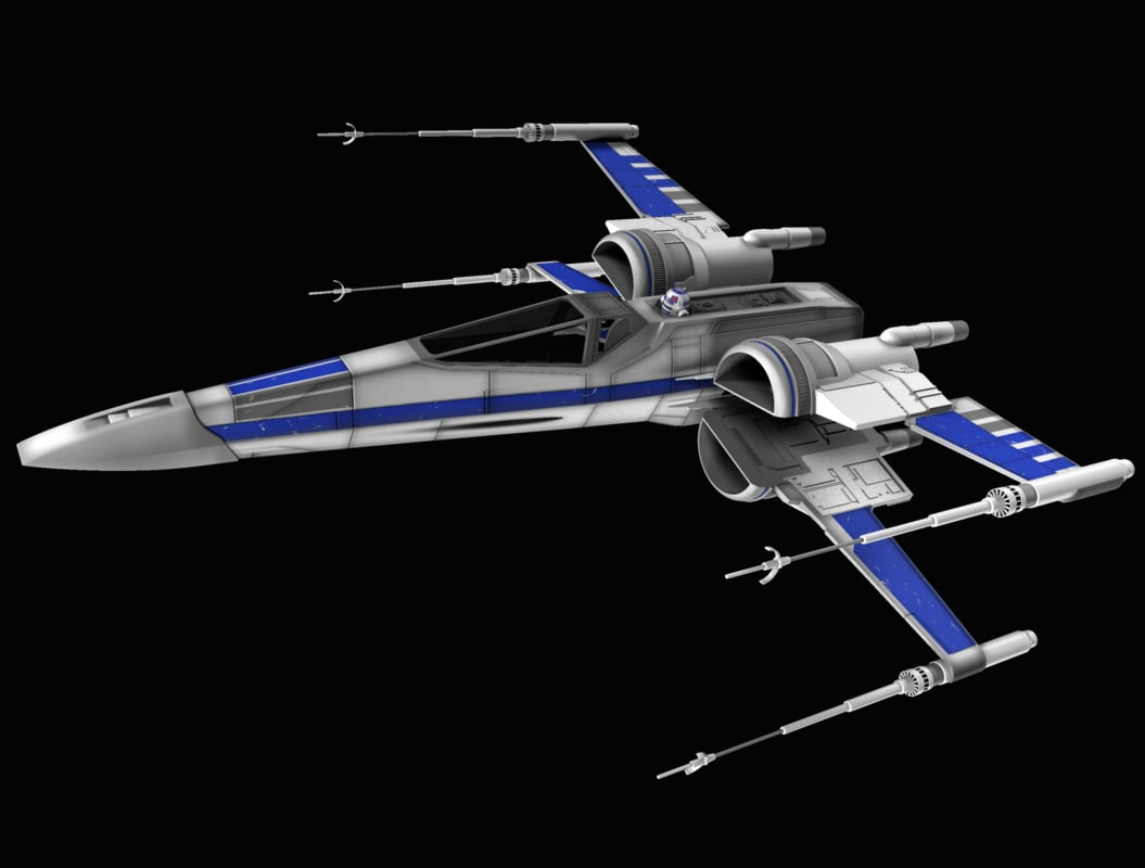 x-wing star wars 3d x